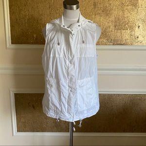 NEW Michael Kors nylon sleeveless hooded jacket L